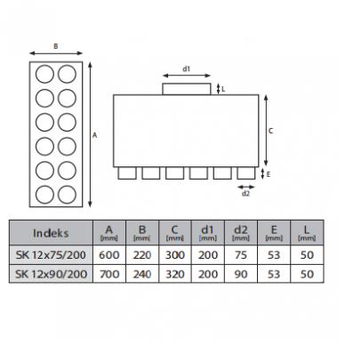 Akustinė oro paskirstymo dėžė 3