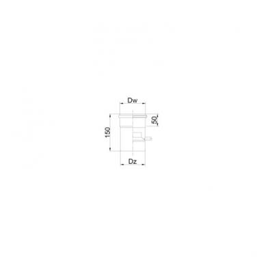 Vamzdis su kondensato rinktuvu 150 mm 2