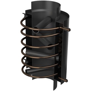 Vandens boileris Turbodym su gyvatuku 2