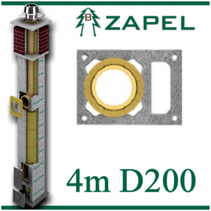 ZAPEL ECO S 4M Ø200 + W