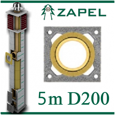 ZAPEL ECO S 5M Ø200