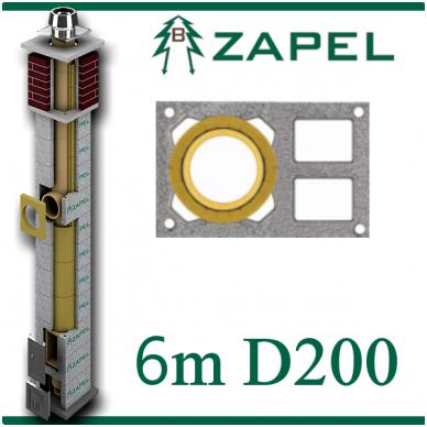ZAPEL ECO S 6M Ø200 + 2 W