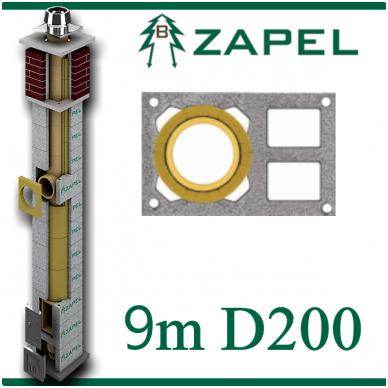 ZAPEL ECO S 9M Ø200 + 2 W